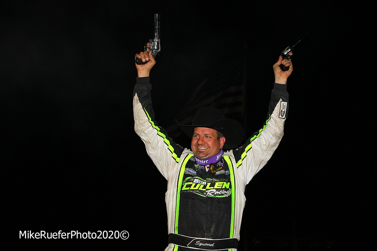 Brian Shirley in victory lane at Arizona Speedway - Wild West Shootout