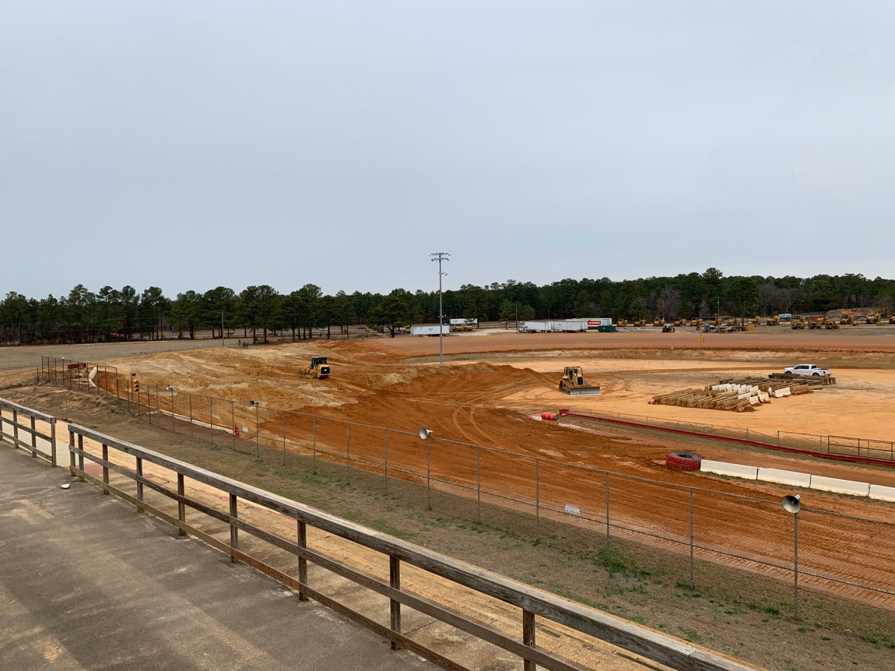 Fayetteville Motor Speedway construction