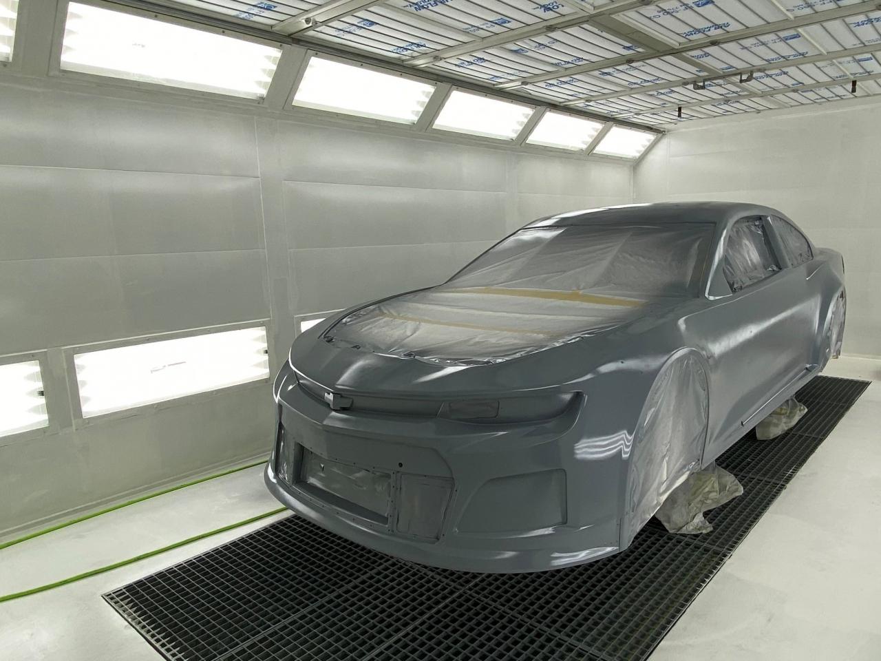 Hendrick Motorsports paint booth