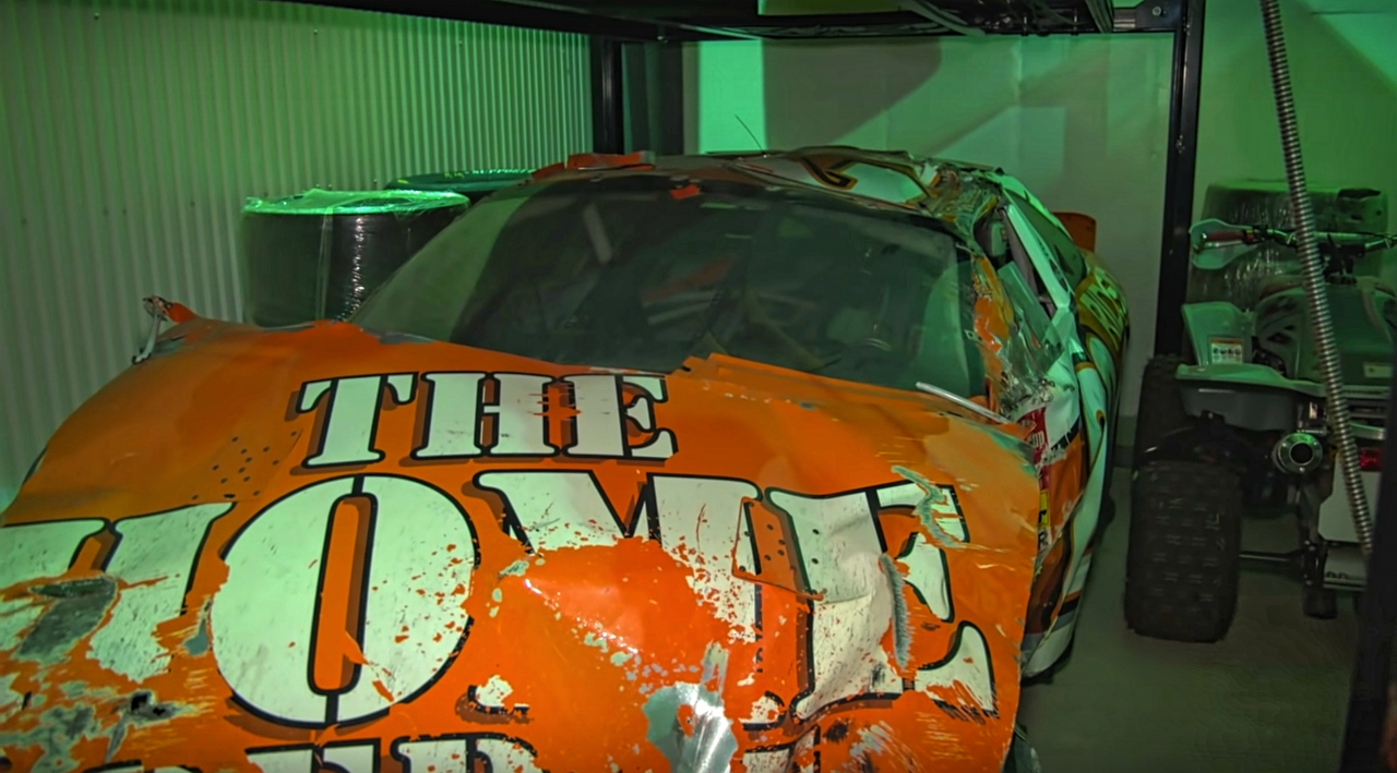 Tony Stewart Daytona crash car