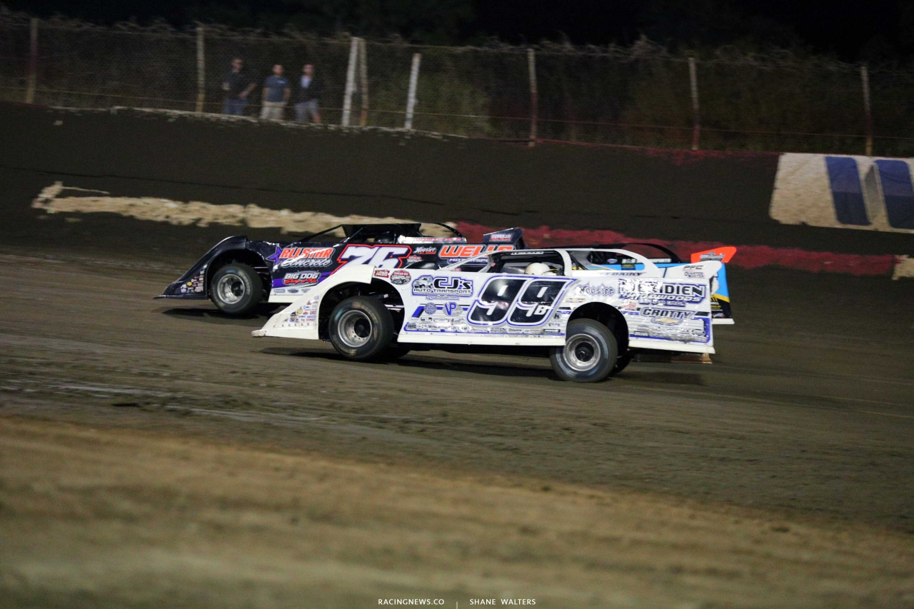 Brandon Overton, Tim McCreadie and Boom Briggs at east Bay Raceway Park - Lucas Oil Late Models 4321