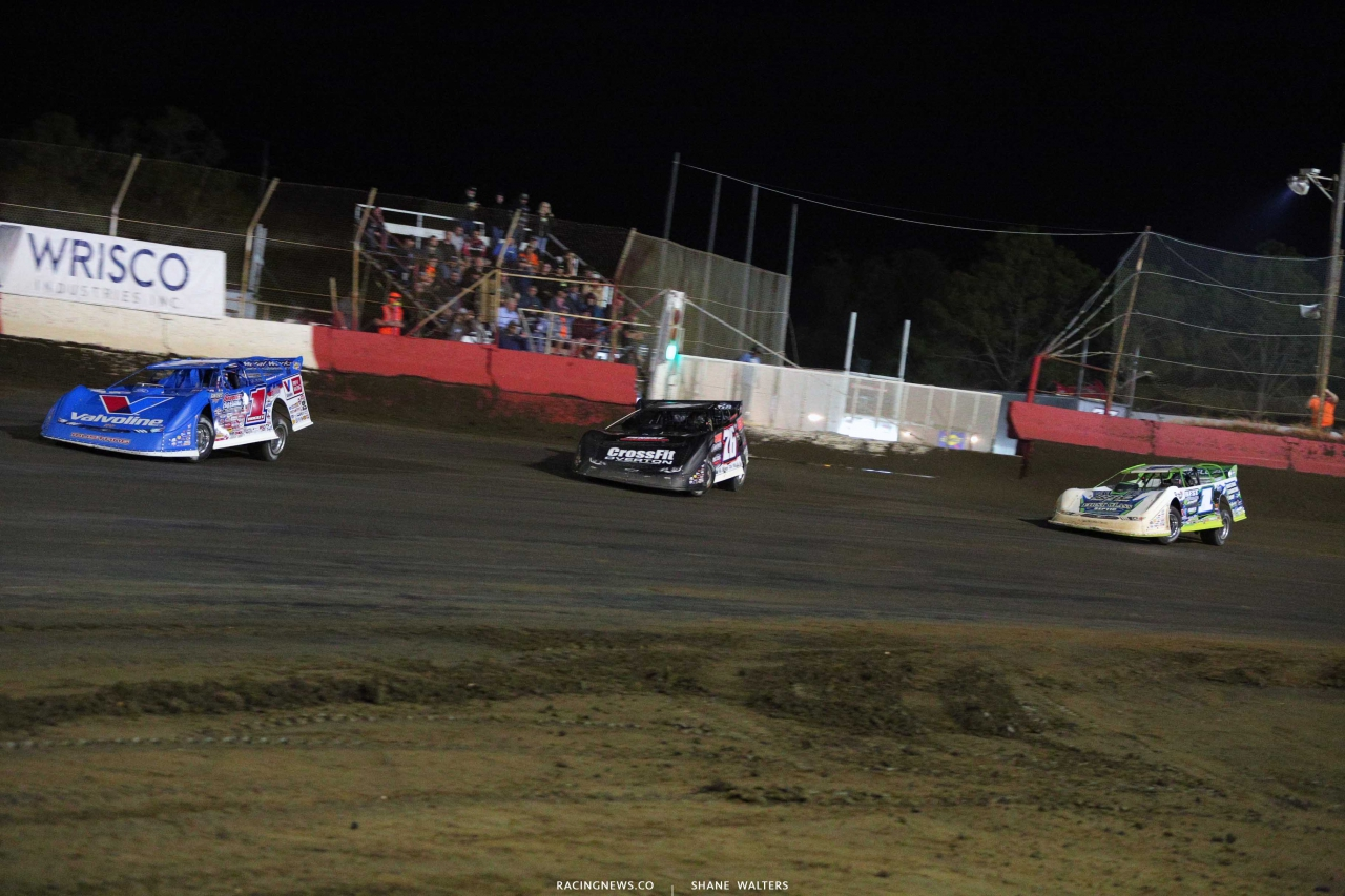 Brandon Sheppard, Brandon Overton and Tyler Erb at East Bay Raceway Park - Dirt Racing 3931