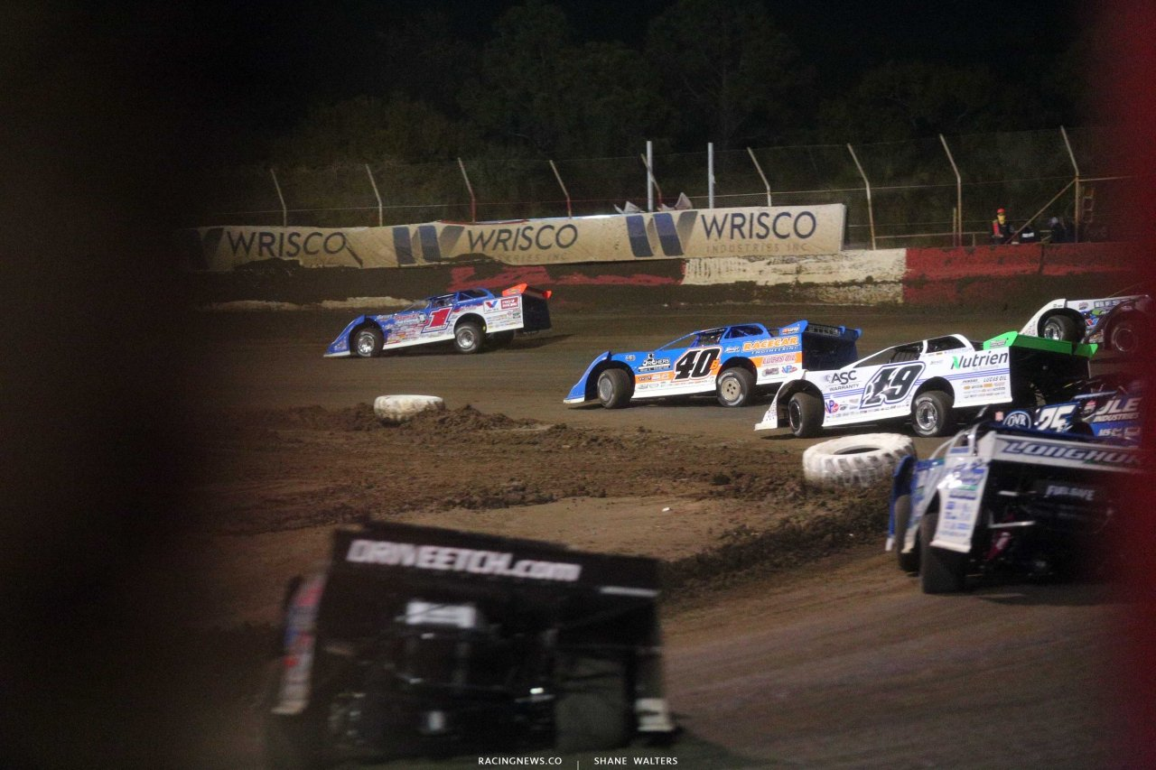 Brandon Sheppard, Kyle Bronson and Jonathan Davenport at East Bay Raceway Park - Lucas Oil Late Models 4878