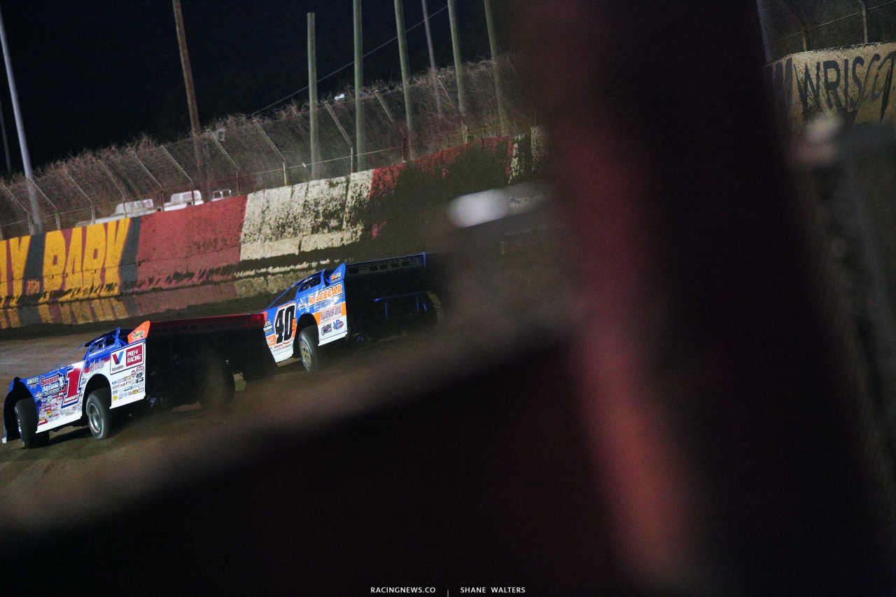 Brandon Sheppard and Kyle Bronson at East Bay Raceway Park - Lucas Oil Series 4900