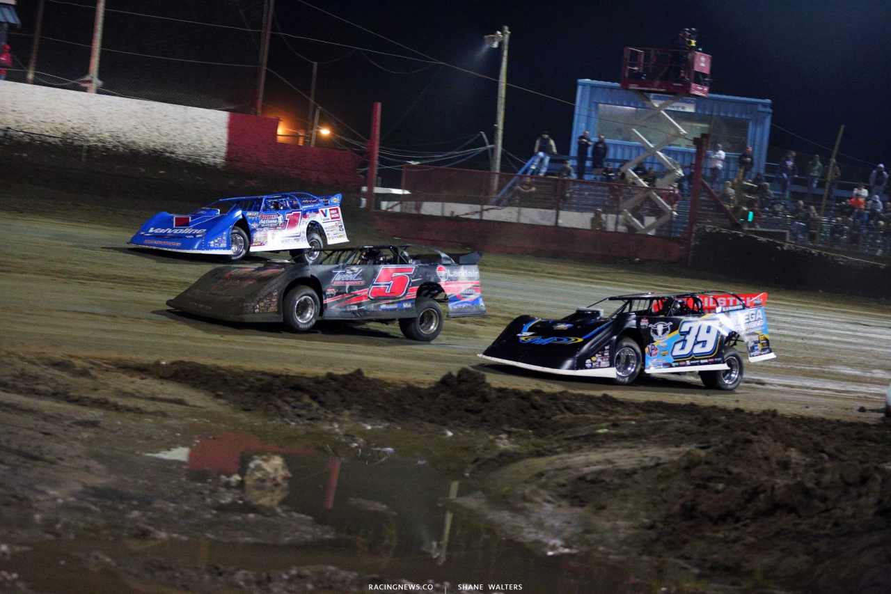 Brandon Sheppard and Tim McCreadie at East Bay Raceway Park - LOLMDS 3694