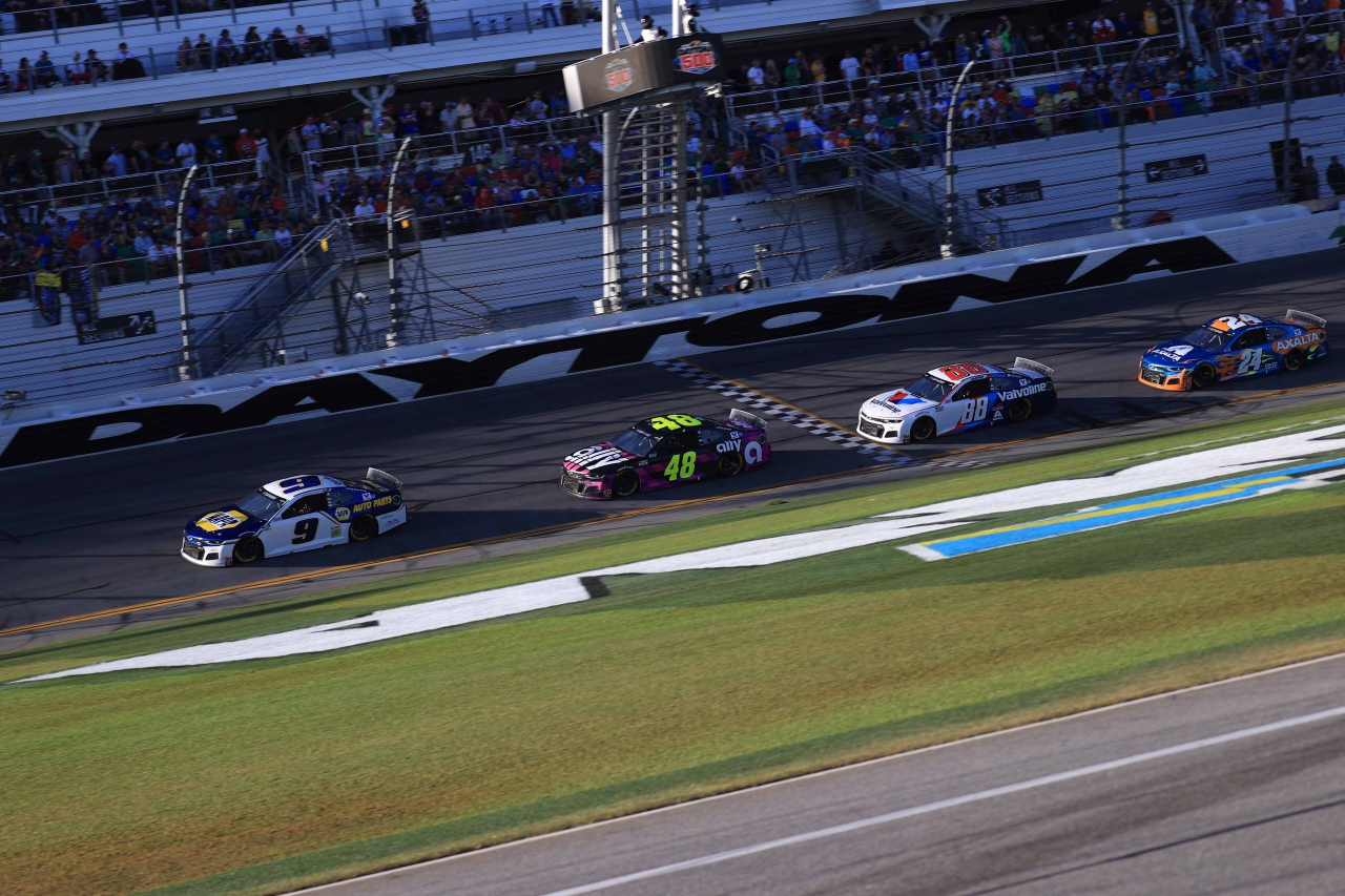 Chase Elliott, Jimmie Johnson, Alex Bowman, William Byron - Hendrick Motorsports at Daytona International Speedway - NASCAR