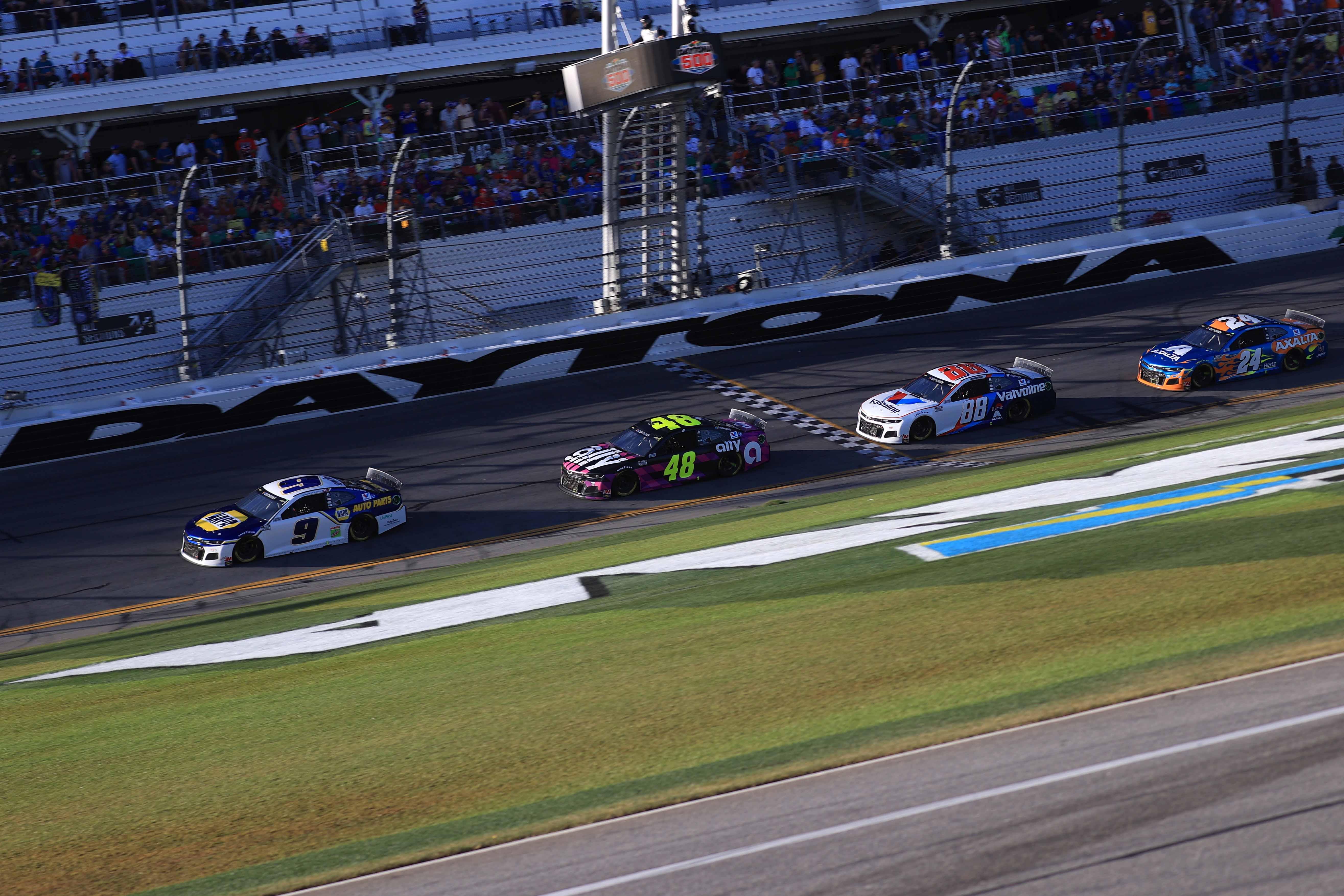 Chase Elliott, Jimmie Johnson, Alex Bowman, William Byron - Hendrick Motorsports at Daytona International Speedway - NASCAR