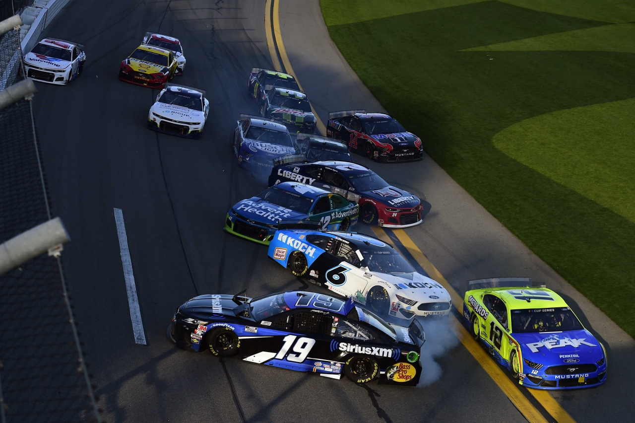 Crash at Daytona International Speedway