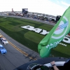 Dale Earnhardt Jr waves the green flag for the Daytona 500 - NASCAR Cup Series