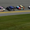 Denny Hamlin, Martin Truex Jr, Kyle Busch and Erik Jones at Daytona International Speedway