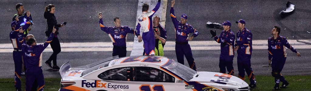 Denny Hamlin was unaware of the Ryan Newman situation while celebrating Daytona 500 win