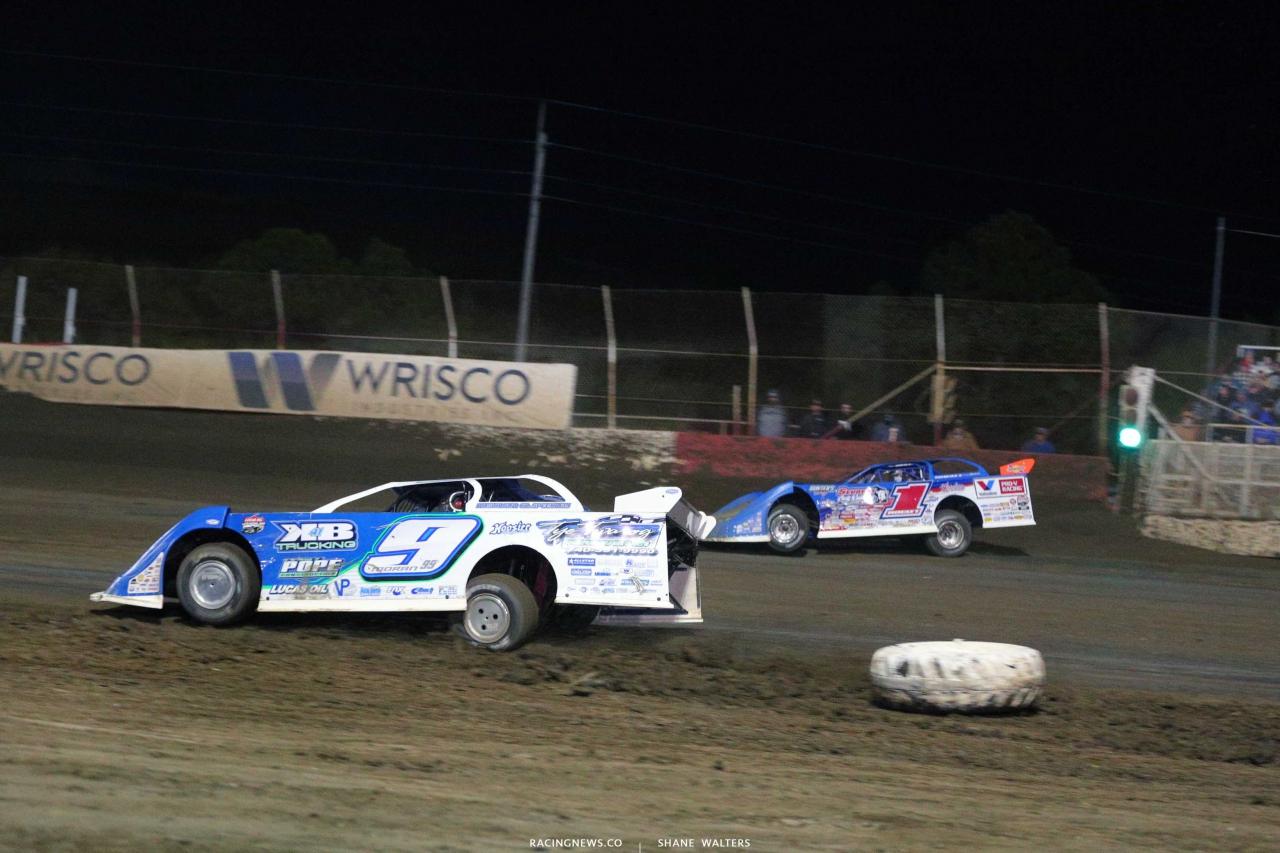 Devin Moran and Brandon Sheppard at East Bay Raceway Park - Lucas Series 5226