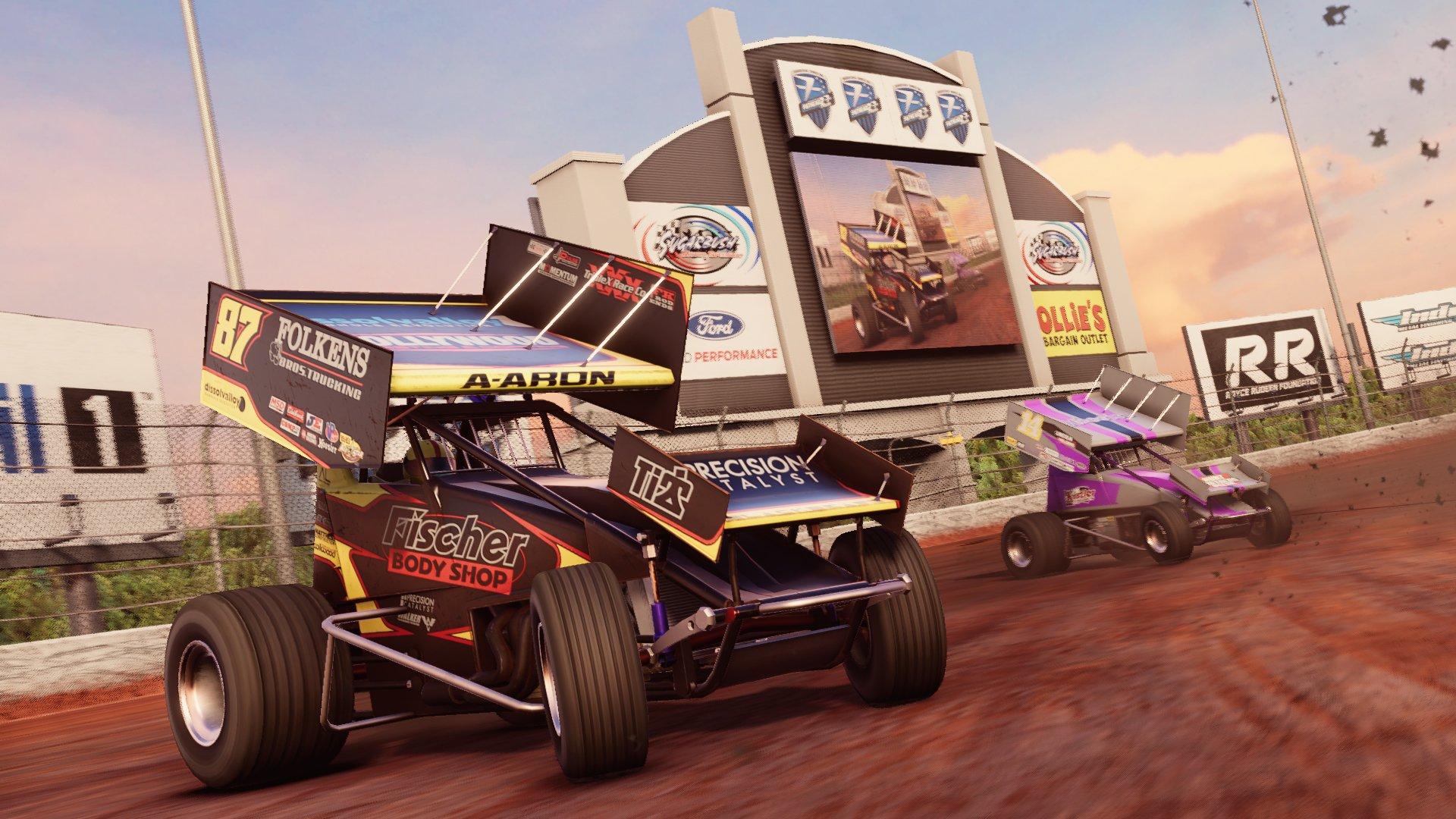 Dirt Sprint car racing game - Screenshot