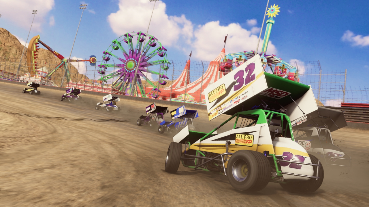 Dirt Track Racing game screenshot