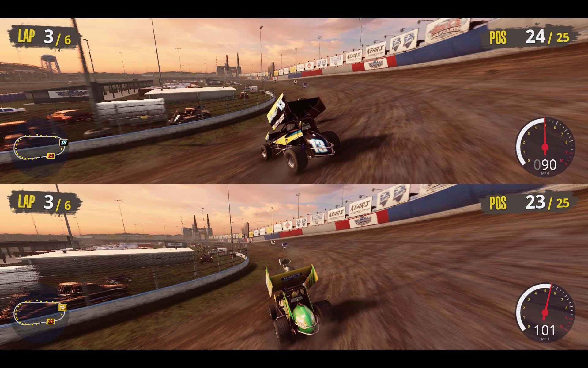 Dirt racing ame - 2 player