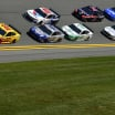 Joey Logano, Kevin Harvick, Alex Bowman, Brad Keselowski, Clint Bowyer, Ty Dillon and Ryan Blaney at Daytona International Speedway