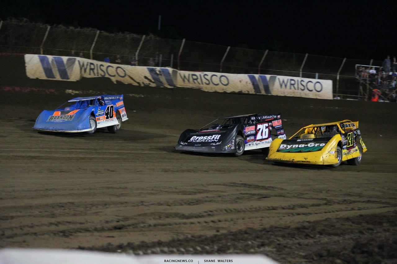Kyle Bronson, Brandon Overton and Billy Moyer Jr at East Bay Raceway Park - Lucas Oil Late Models 4426