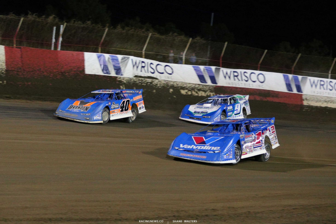 Kyle Bronson, Brandon Sheppard and Devin Moran at East Bay Raceway Park - Lucas Oil Series 3775