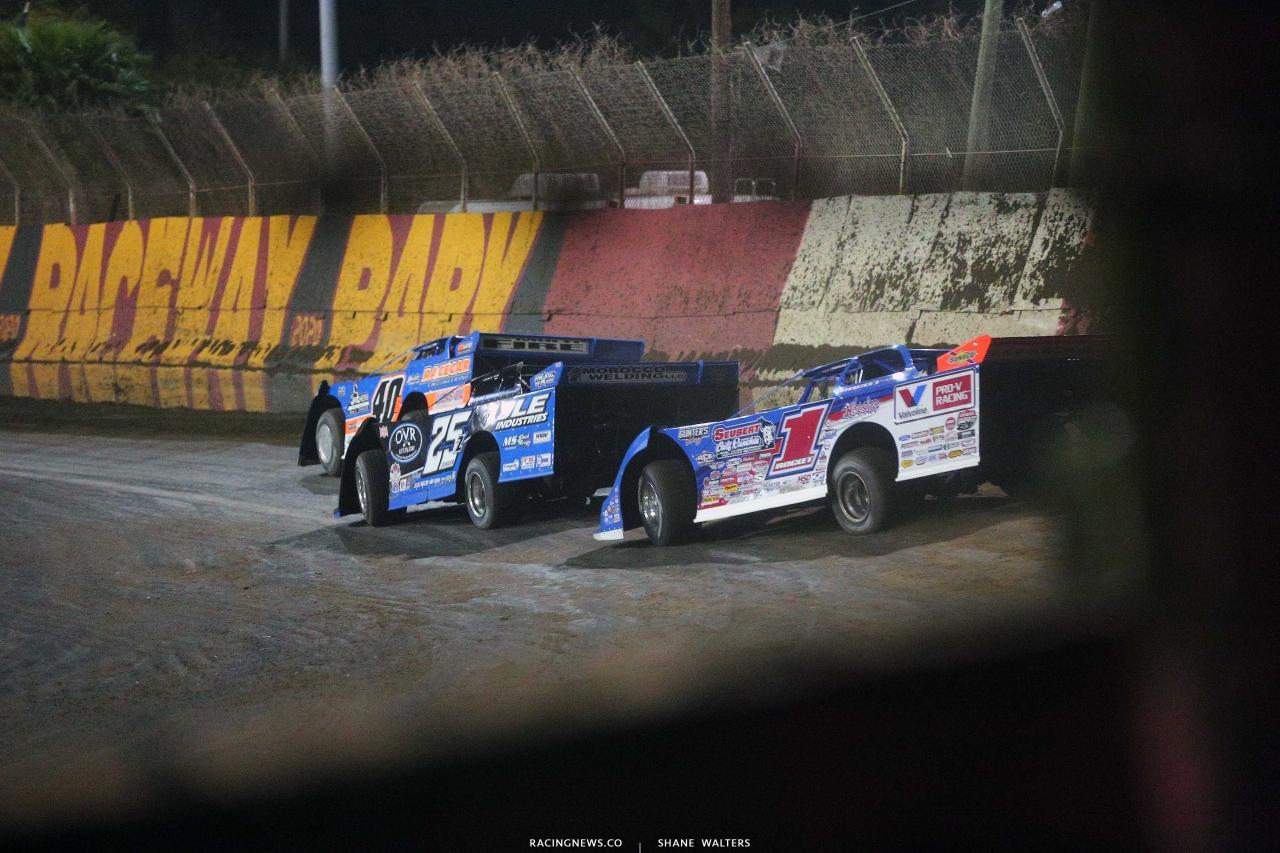 Kyle Bronson, Mason Zeigler and Brandon Sheppard at East Bay Raceway Park - Lucas Oil Late Model Series 5010