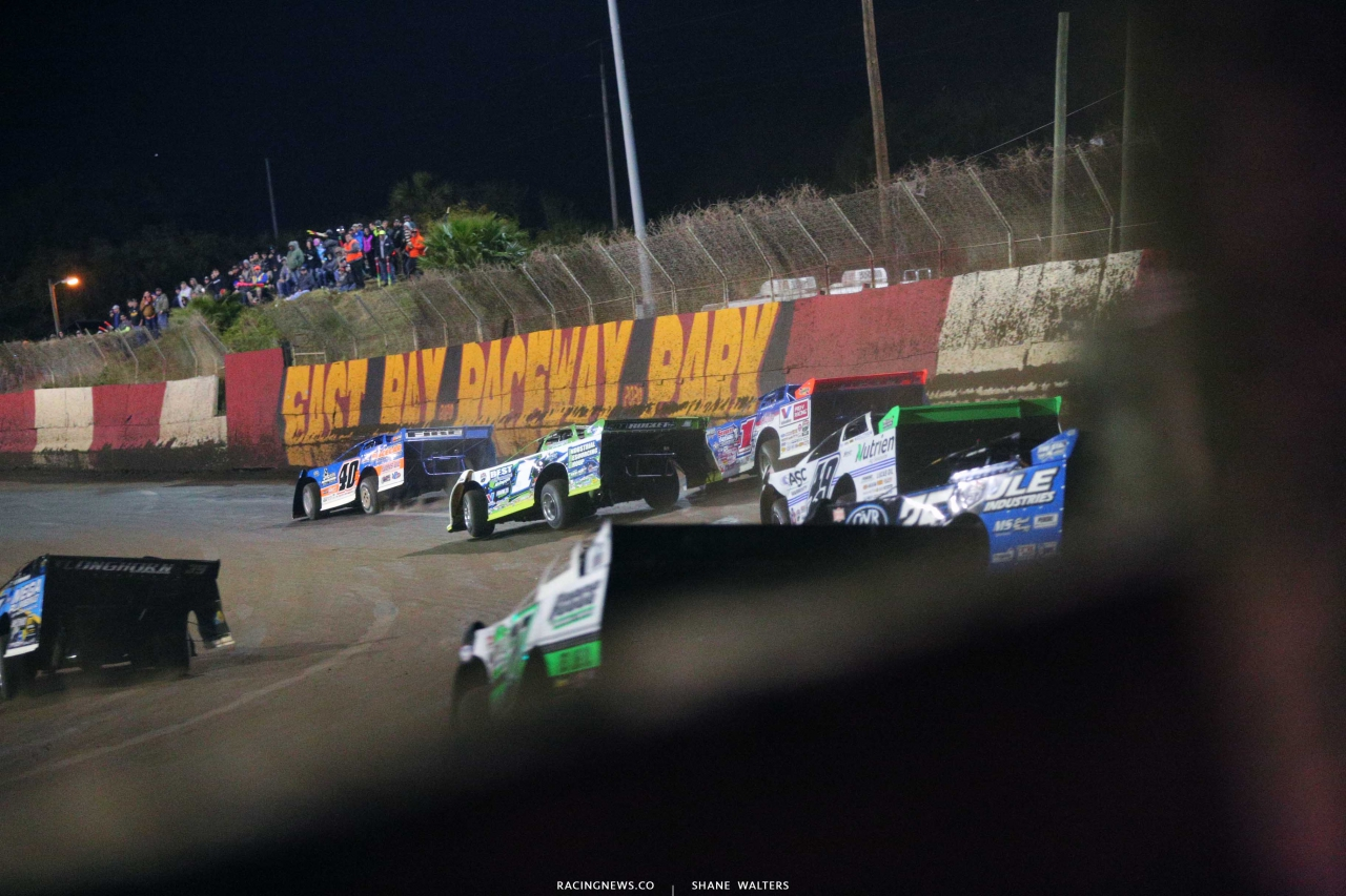 Kyle Bronson, Tyler Erb, Brandon Sheppard and Jonathan Davenport at East Bay Raceway Park - Lucas Late Models 4950