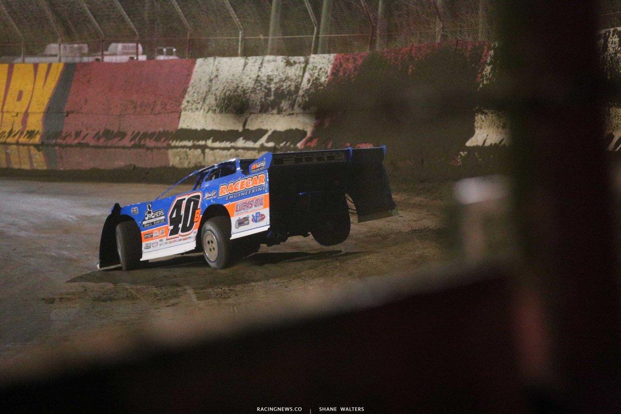 Kyle Bronson jumps the ruts at East Bay Raceway Park - Lucas Oil Late Model 4964
