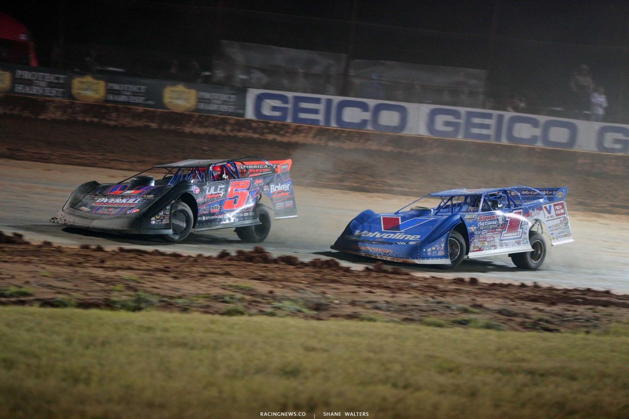 Mark Whitener and Brandon Sheppard at Golden Isles Speedway 3471