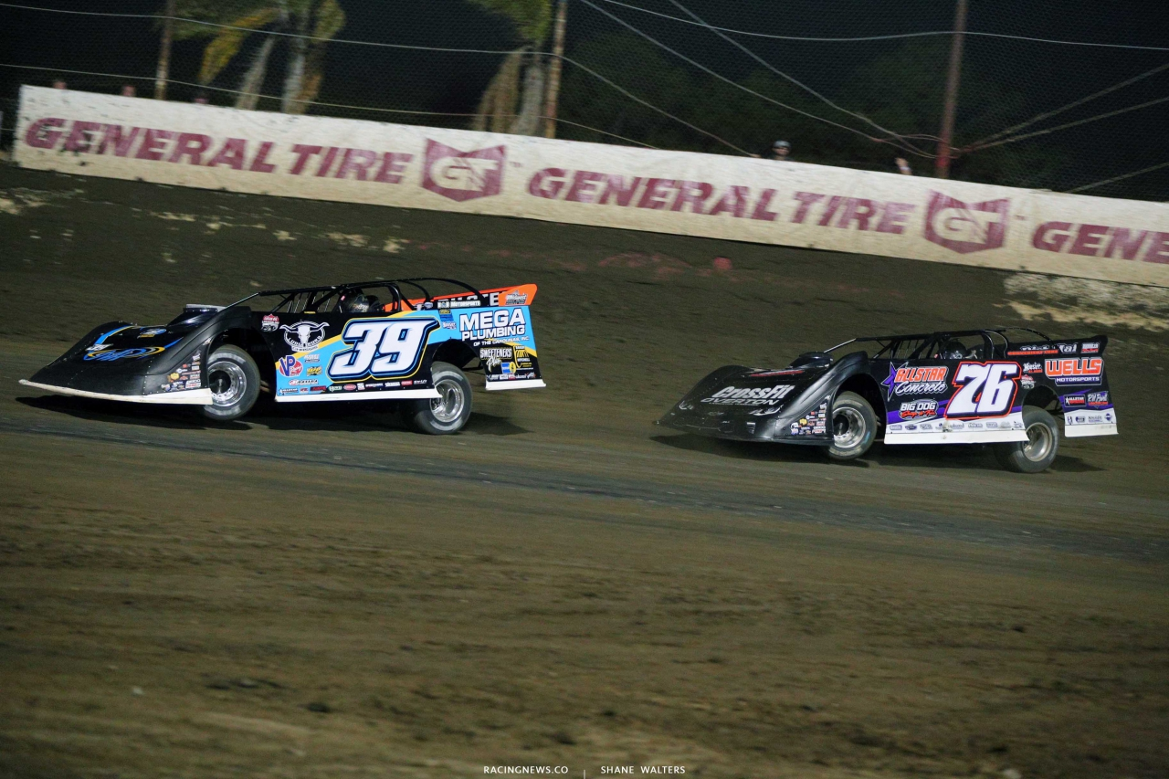 Tim McCreadie and Brandon Overton at East Bay Raceway Park - LOLMDS 4369