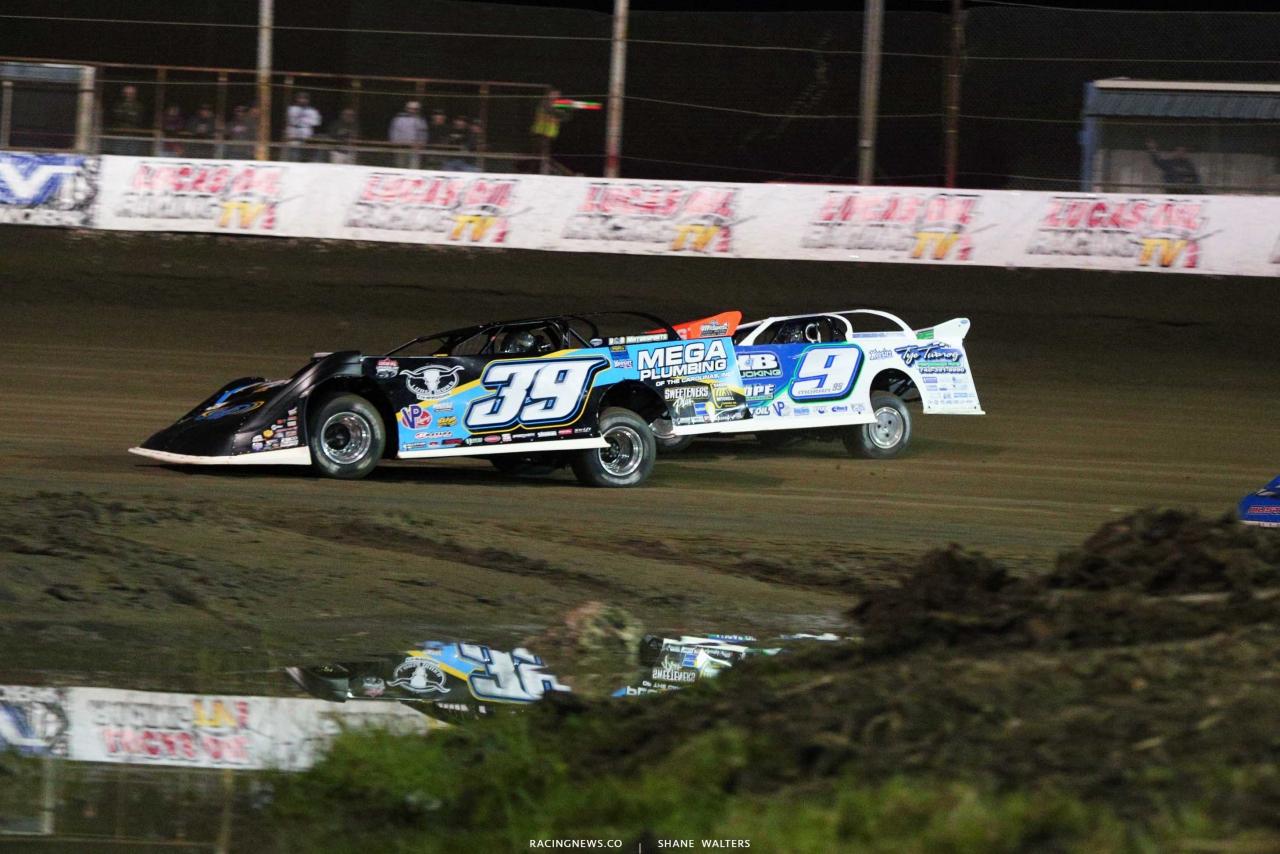 Tim McCreadie and Devin Moran at East Bay Raceway Park - Lucas Oil Late Models 3671