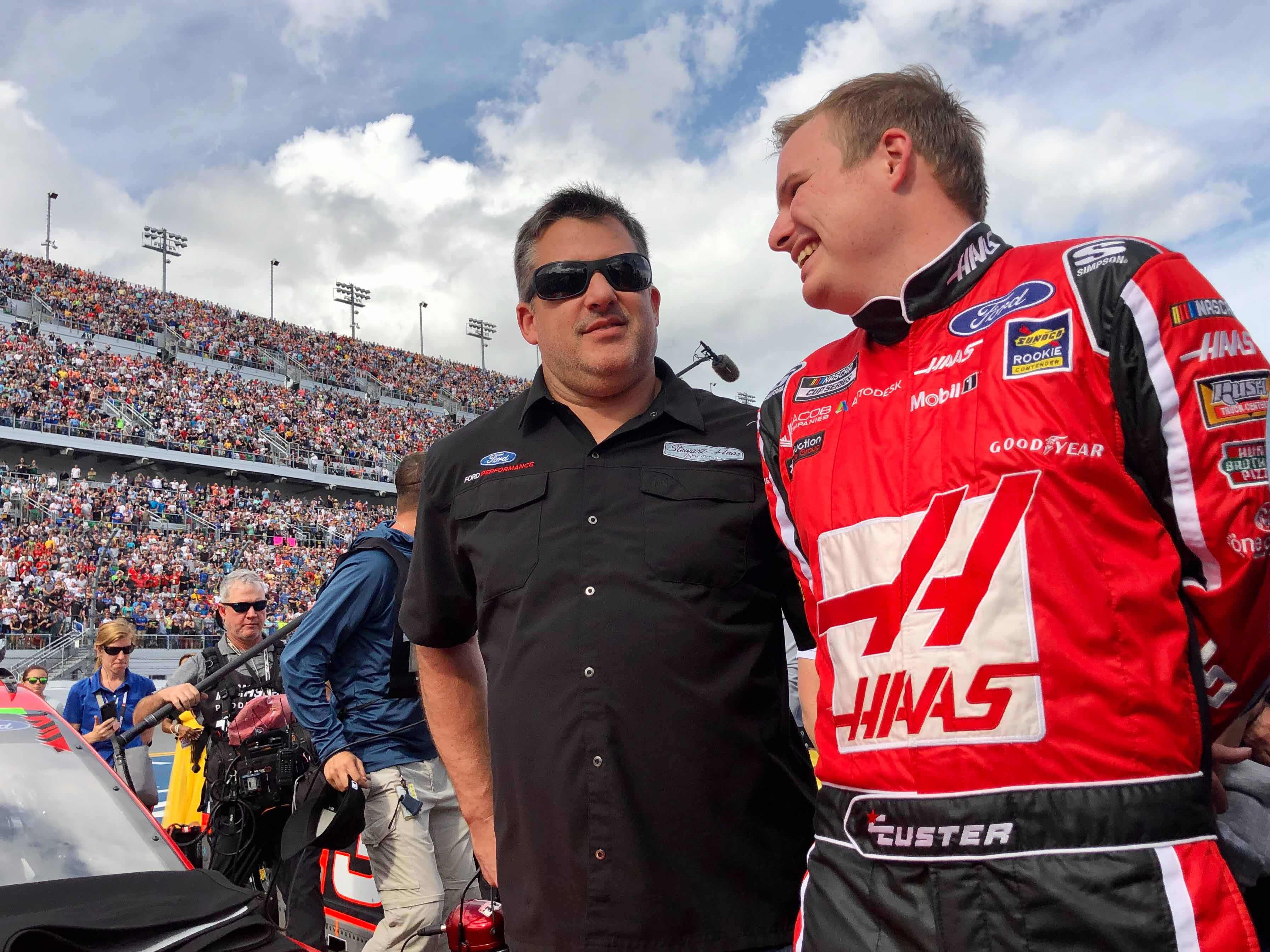 Tony Stewart and Cole Custer