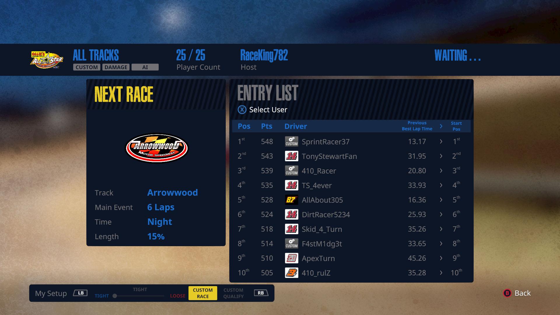 Tony Stewart's dirt racing ame - Screenshot