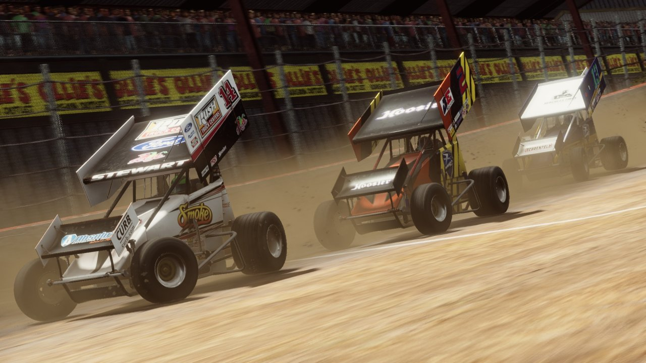 Tony Stewart's dirt sprint car racing game