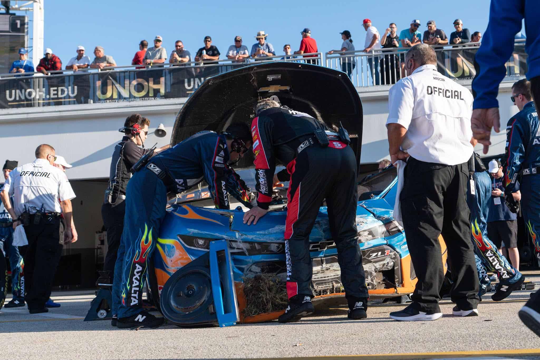 William Byron crashes at Daytona International Speedway - NASCAR