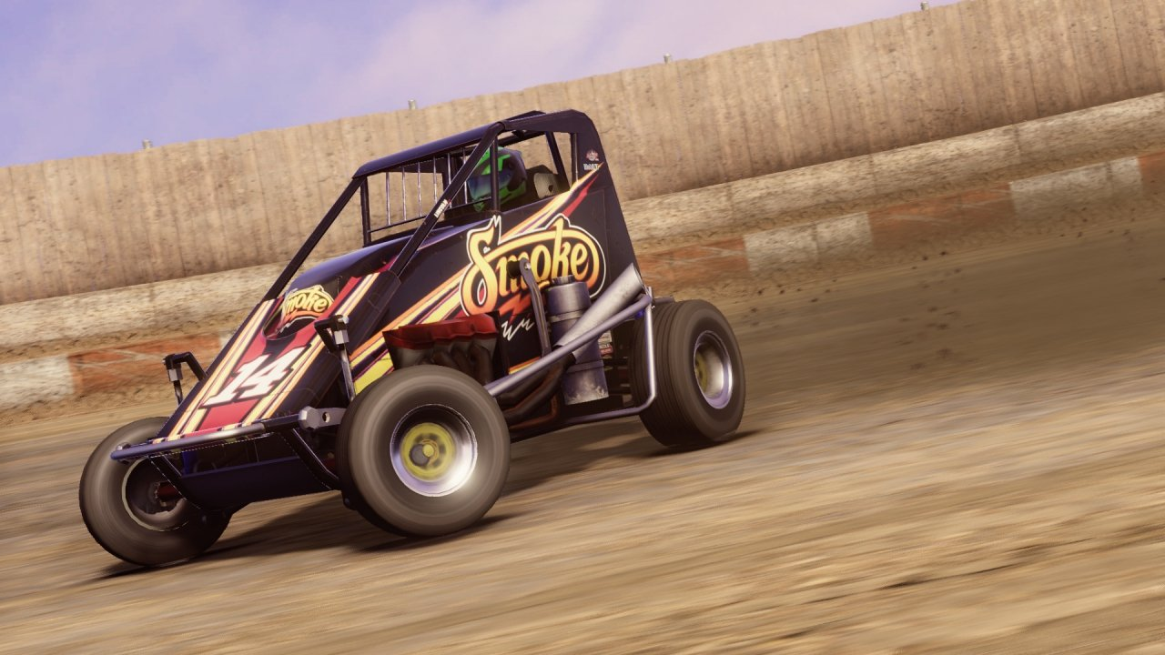 Wingless sprint car video game