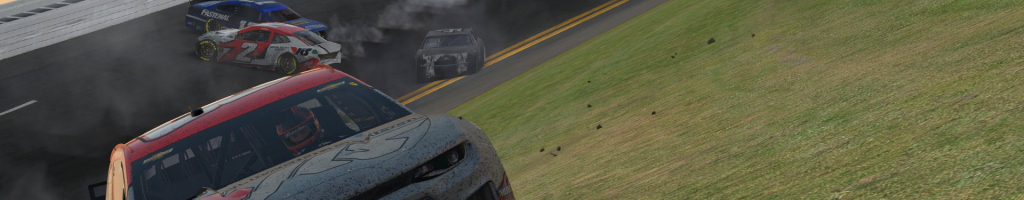 iRacing Clash: Nearly the whole field crashes in final lap (Videos)