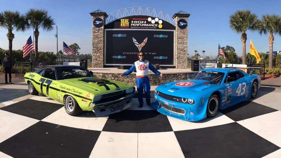 Adam Andretti runs John Andretti tribute car