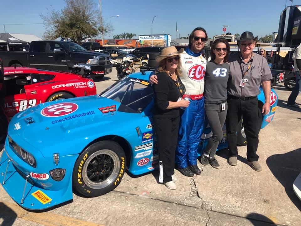 Adam Andretti runs tribute petty blue to John Andretti