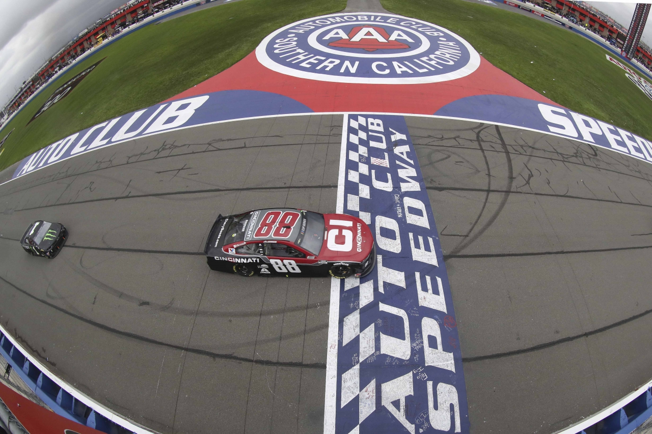 Alex Bowman at Auto Club Speedway - NASCAR Cup Series