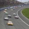 Clint Bowyer, Jimmie Johnson, Kurt Busch and Alex Bowman at Auto Club Speedway - NASCAR Cup Series