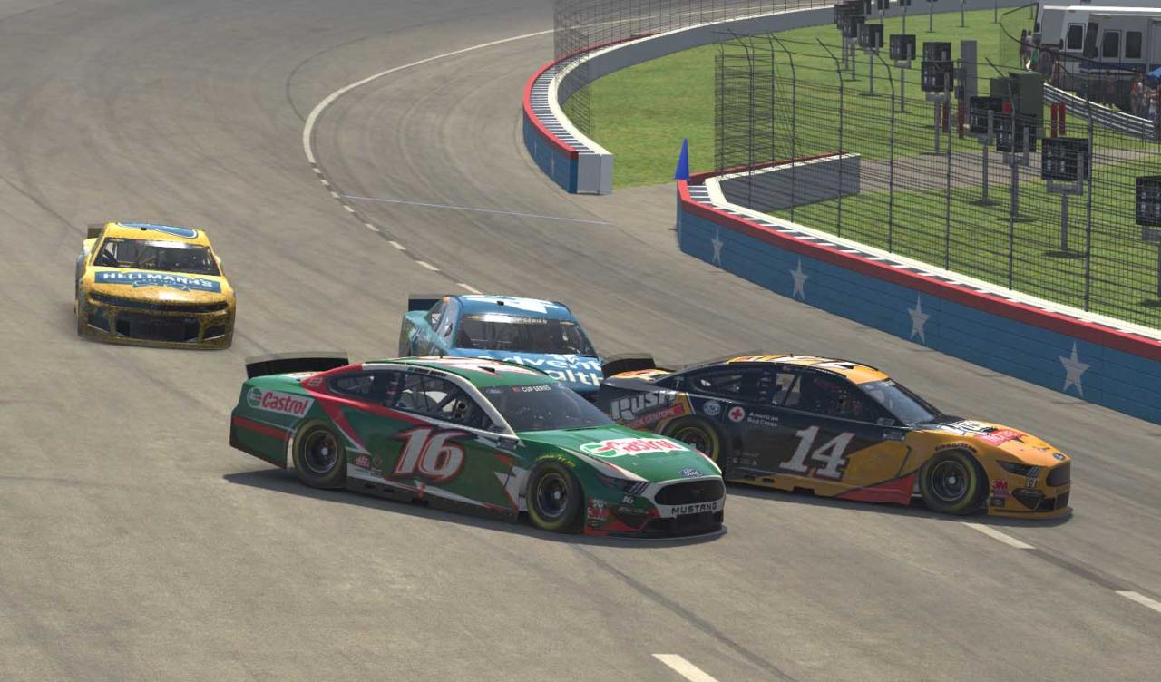 Clint Bowyer and Greg Biffle crash at Texas Motor Speedway - NASCAR iRacing