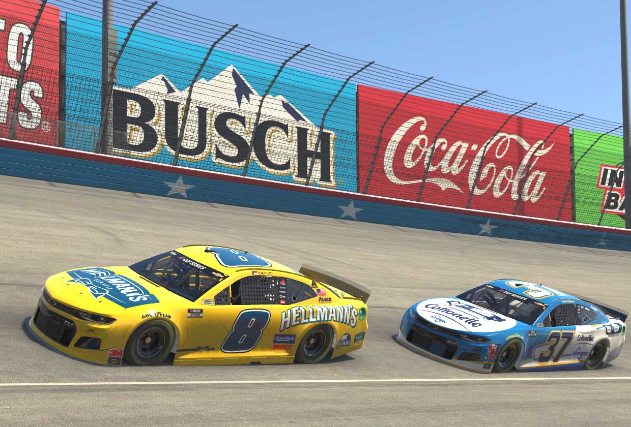 Dale Earnhardt Jr and Ryan Preece - Texas Motor Speedway - NASCAR iRacing