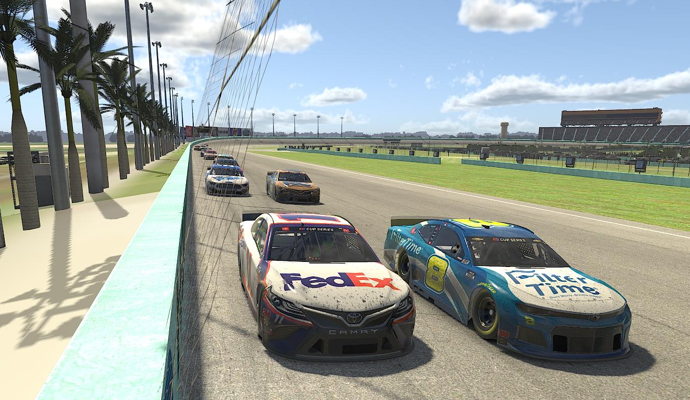 Denny Hamlin and Dale Earnhardt Jr - NASCAR iRacing Series - Homestead-Miami Speedway
