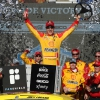 Joey Logano in victory lane - NASCAR