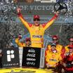 Joey Logano in victory lane - NASCAR