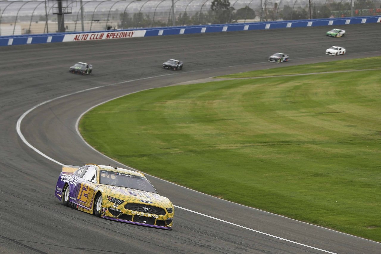 Ryan Blaney at Auto Club Speedway - NASCAR Cup Series