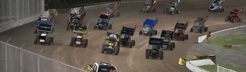 iRacing World of Outlaws Results: March 25, 2020 (Volusia Speedway Park) VIDEO