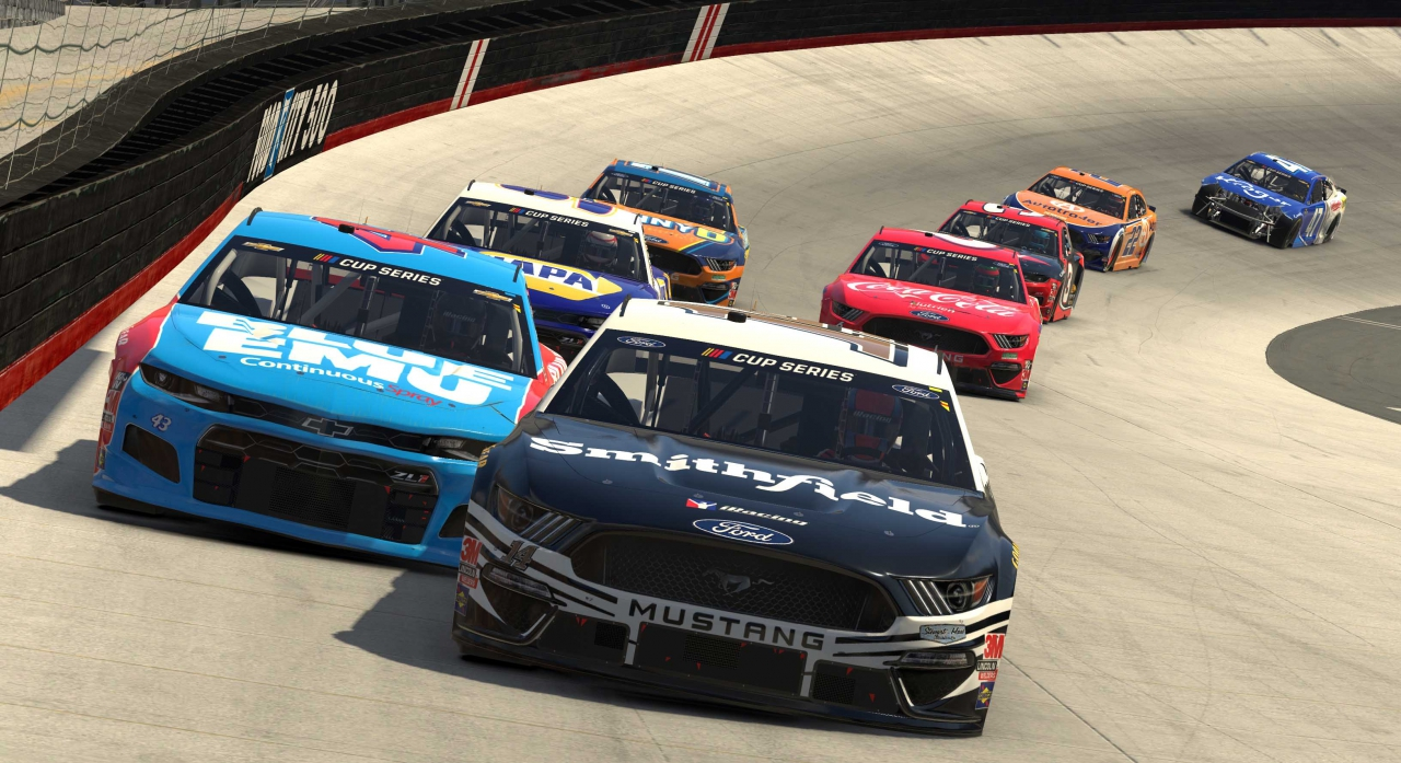 Clint Bowyer and Bubba Wallace - Bristol Motor Speedway - NASCAR iRacing Series