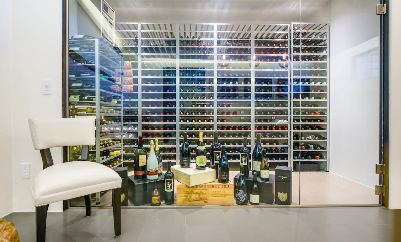 Graham Rahal - Walk in wine cellar