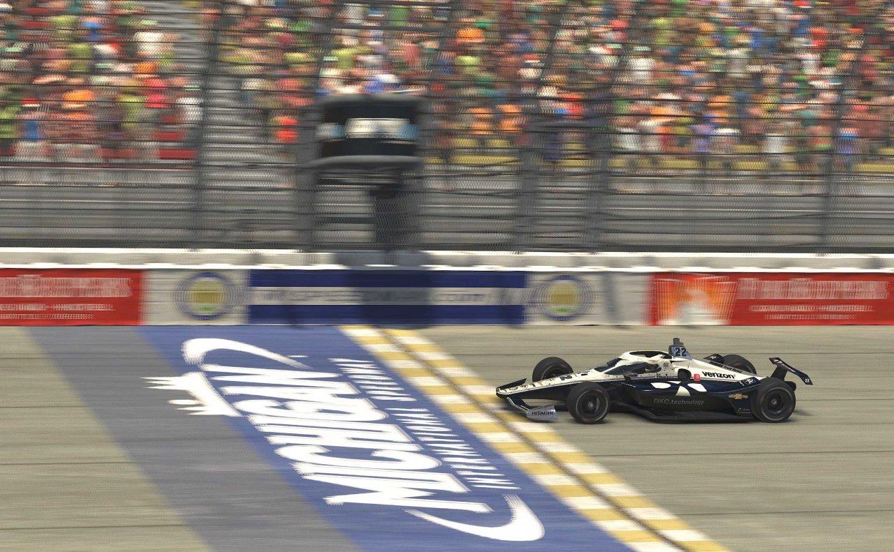 Simon Pagenaud wins INDYCAR iRacing event at Michigan International Speedway