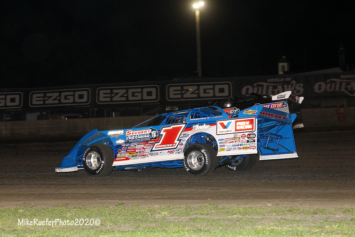 Brandon Sheppard and Ricky Thornton Jr at Davenport Speedway