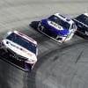 Denny Hamlin and Chase Elliott at Bristol Motor Speedway - NASCAR Cup Series